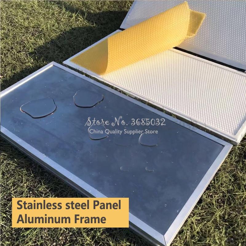 New Hand Pressure Beeswax Foundation Sheet Making Machine Wax Comb Embosser Mill Machine For China /Italian Bee 41.5*19.5cm