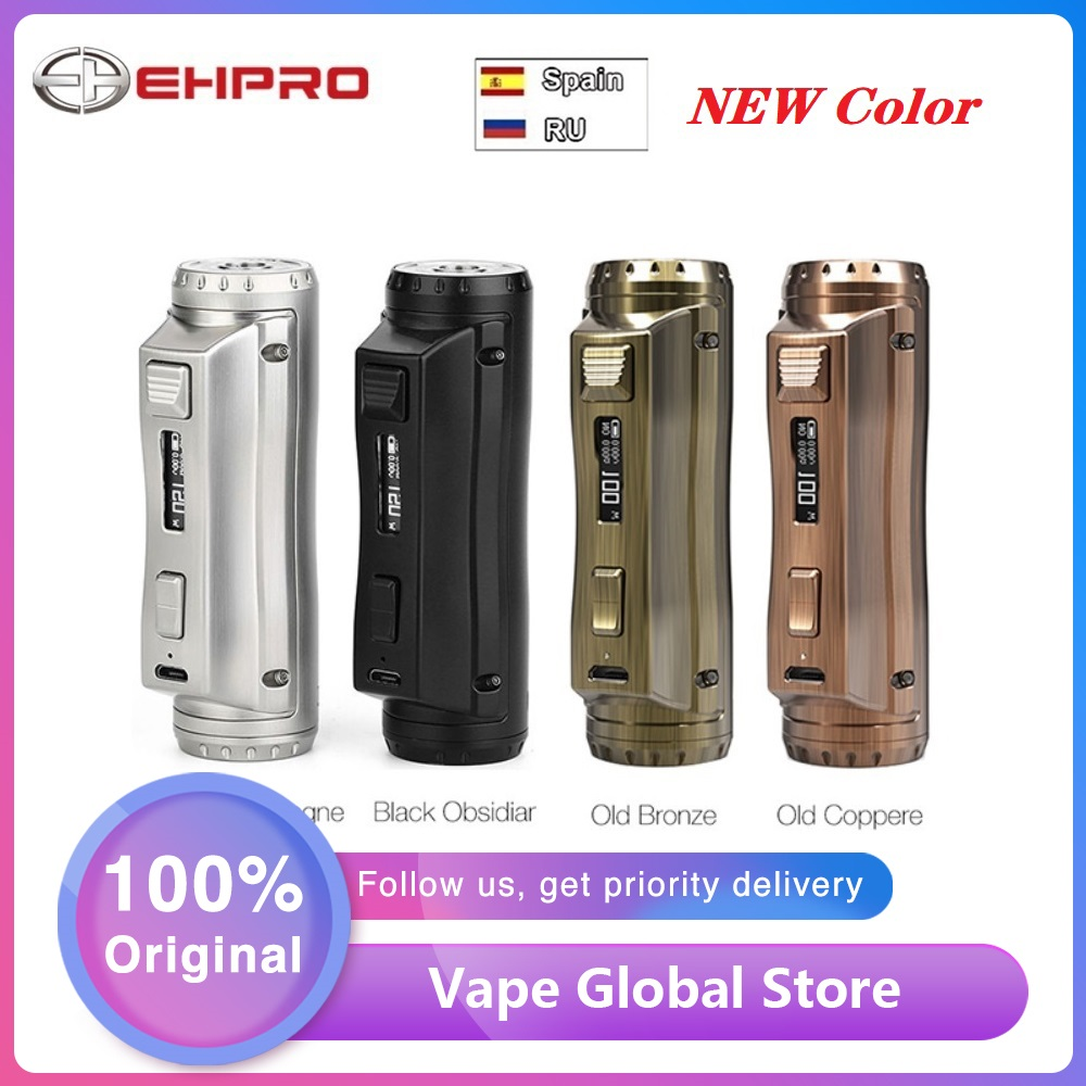 New Color Original Ehpro Cold Steel 100 TC Box MOD 120W E-cig Vape Mod Power By 18650/20700/21700 Battery Vs Drag 2 / Mechman