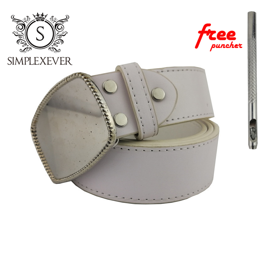 Pu Belts With Blank Belt Buckle Add Your Own Design DIY Metal Belt Buckle For Men Jean's Accessories