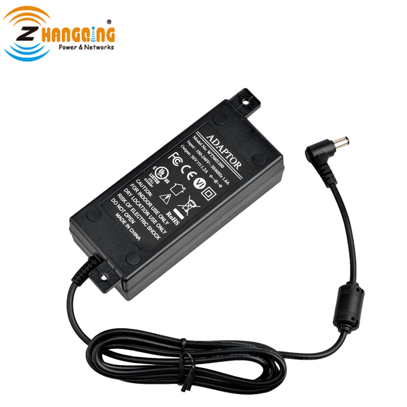 Switching Power Supply 56V 60W For Active PoE Products Power Adapter CE FCC Approvel