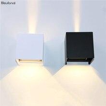 LEDและลงโคมไฟอลูมิเนียมกำแพงตกแต่งกันน้ำกลางแจ้งโคมไฟผนังPorchไฟผนังBL700