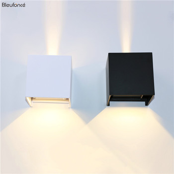 LED Up and Down Wall Lamp Aluminum  Indoor Wall Decorate Light Waterproof Outdoor Wall Lamps Porch Garden Wall Lights BL700 led outdoor garden lighting up down lighting wall lamps square round black aluminum waterproof led light