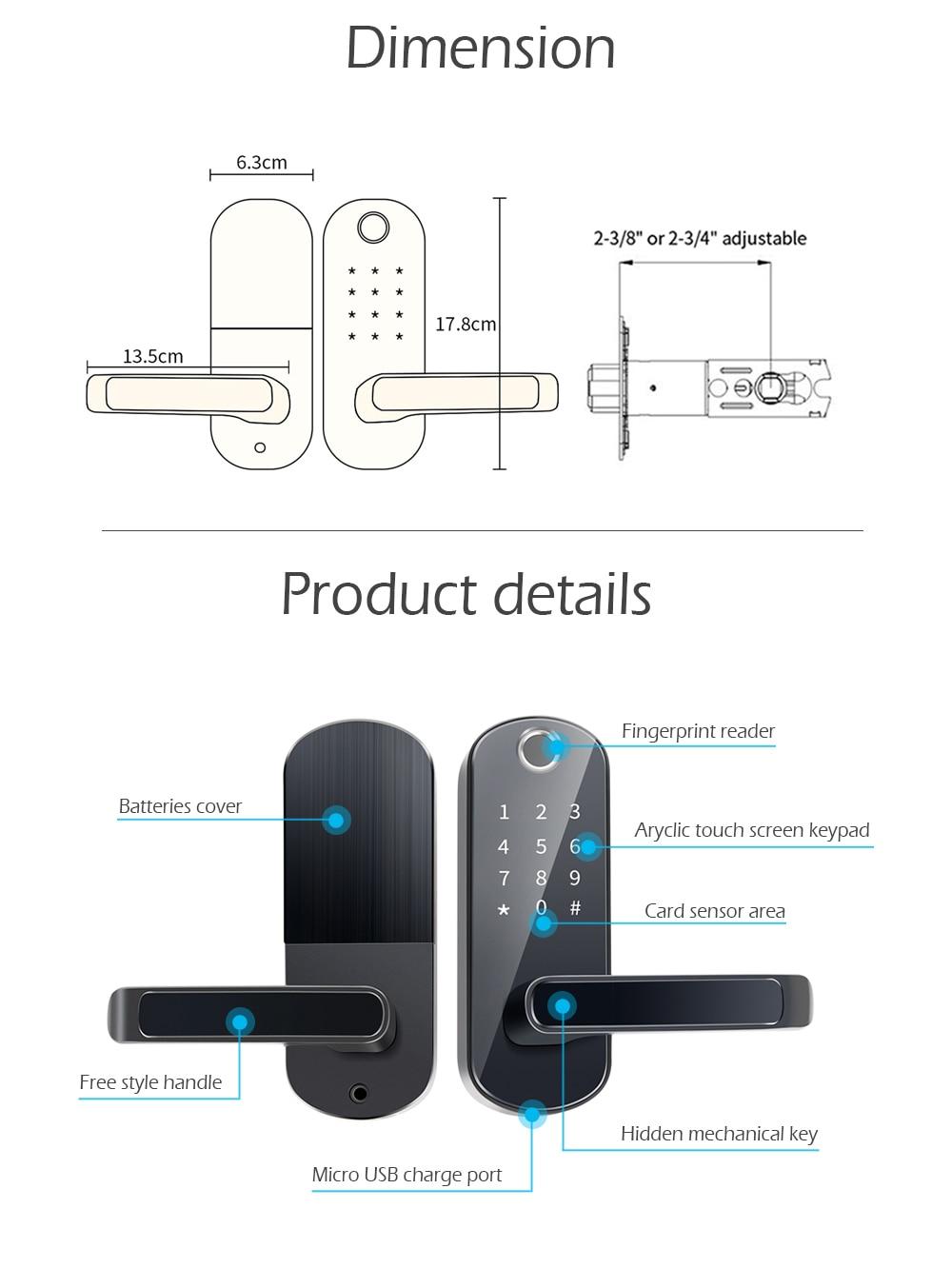 Heb296d79a1ad40e5ae3d2bc91eb84f8dc TTlock app fingerprint smart lock, wifi App waterproof button pincode Keypad electronic door lock, biometric remote control lock