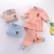 Kids Pajamas PJS Toddler Girls Boys Winter Children Warm Fabric Fall Autumn Thick Set