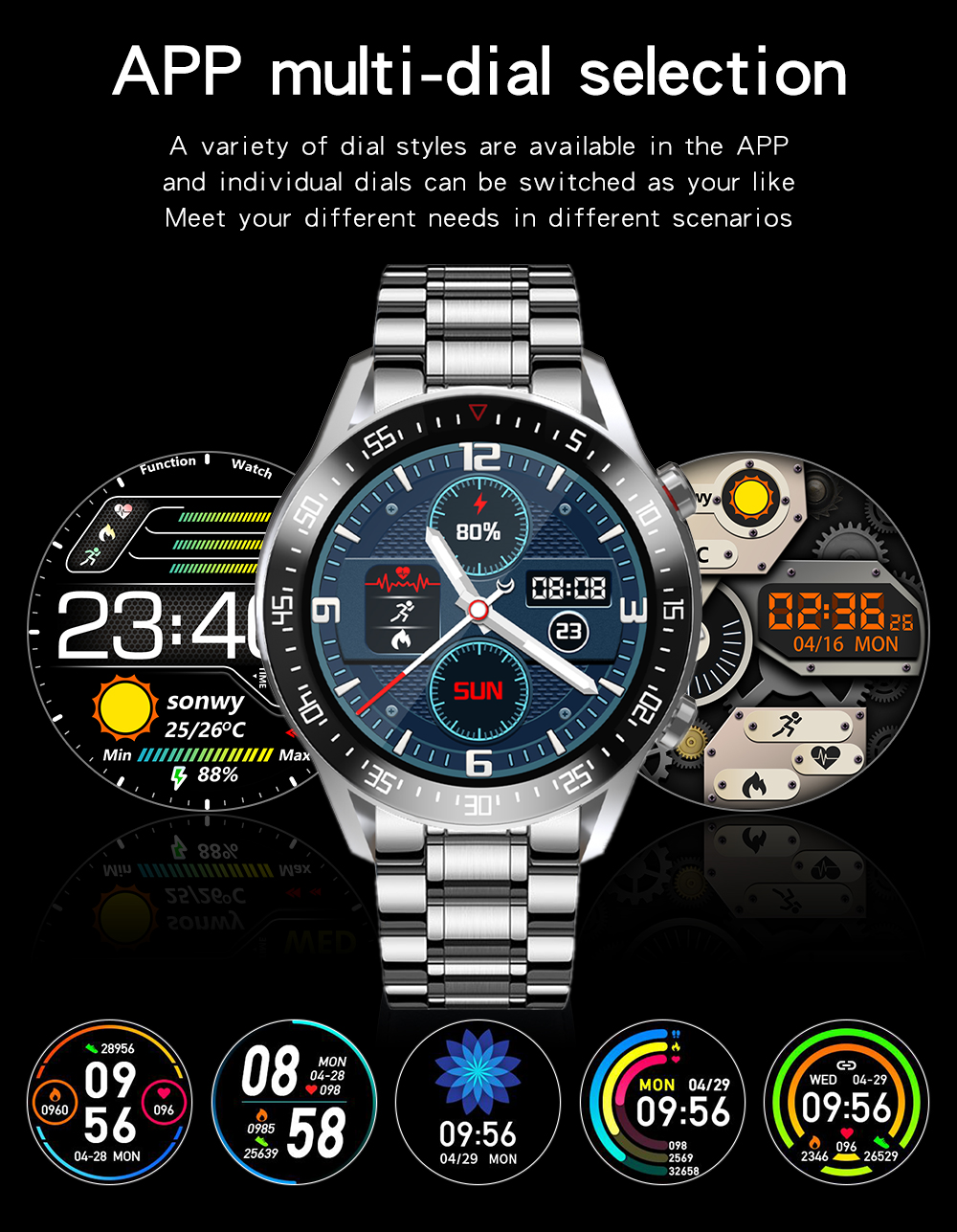Heb29c38c6a6c4c6d9b1c5a224e539f24S XUESEVEN 2021 HD Full circle touch screen Mens Smart Watches IP68 Waterproof Sports Fitness Watch Fashion Smart Watch for men