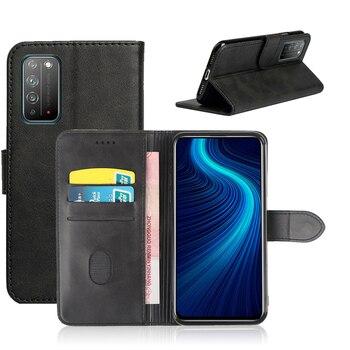 ROEMI, para Huawei Honor X10, Material duradero de alta calidad de uso suave y cómodo para la vida útil, funda tipo billetera de cuero PU