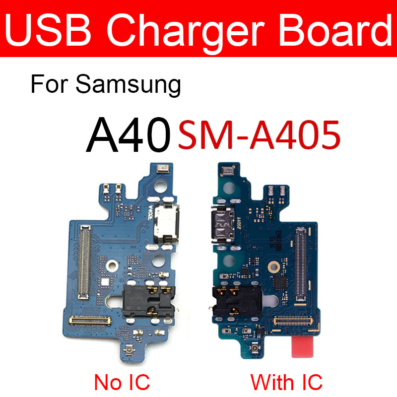 USB Plug Charger Jack Board For Samsung Galaxy A40 SM-A405FD A405FD SM-A405FN A405FN Usb Charging Port Dock Board Replacement