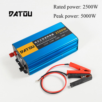 5000W Car Inverter Modified Sine Wave 12V to 220V Voltage Converter Transformer Rated 2500W Charger Converter Adapter 5000w pure sine wave car inverter 24v to 220v transformer car power inverter charger converter adapter auto parts rated 4000w