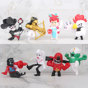 8pcs/12pcs Browlsstars Toys Figure Game Cartoon Star Hero Model Spike Shelly Colt Leon PRIMO MORTIS Doll New Year Xmas Toy
