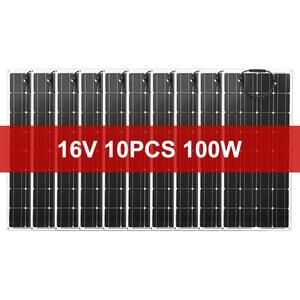 Image 2 - Dokio 12V 1000W Flexible Solar panel Mono Solar Panel For Car/Boat/ Home  Charge 16V/18V  Waterproof Solar Panel China