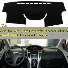 Voor Toyota VIOS Yaris Belta 2007 2008 2009 2010 2011 2012 Dashmats Auto styling Accessoires Dashboard Cover Pad Auto dash Mat