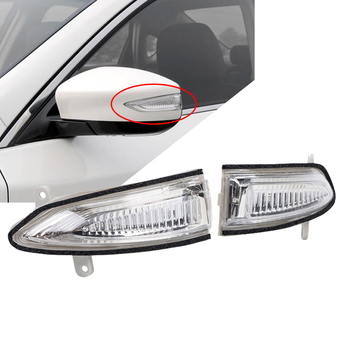 цена на Car Rearview Mirror Turn Signal Light Left/Right Rear View Side Mirror LED Indicator Lamp For Nissan Teana Sentra Altima 13-17