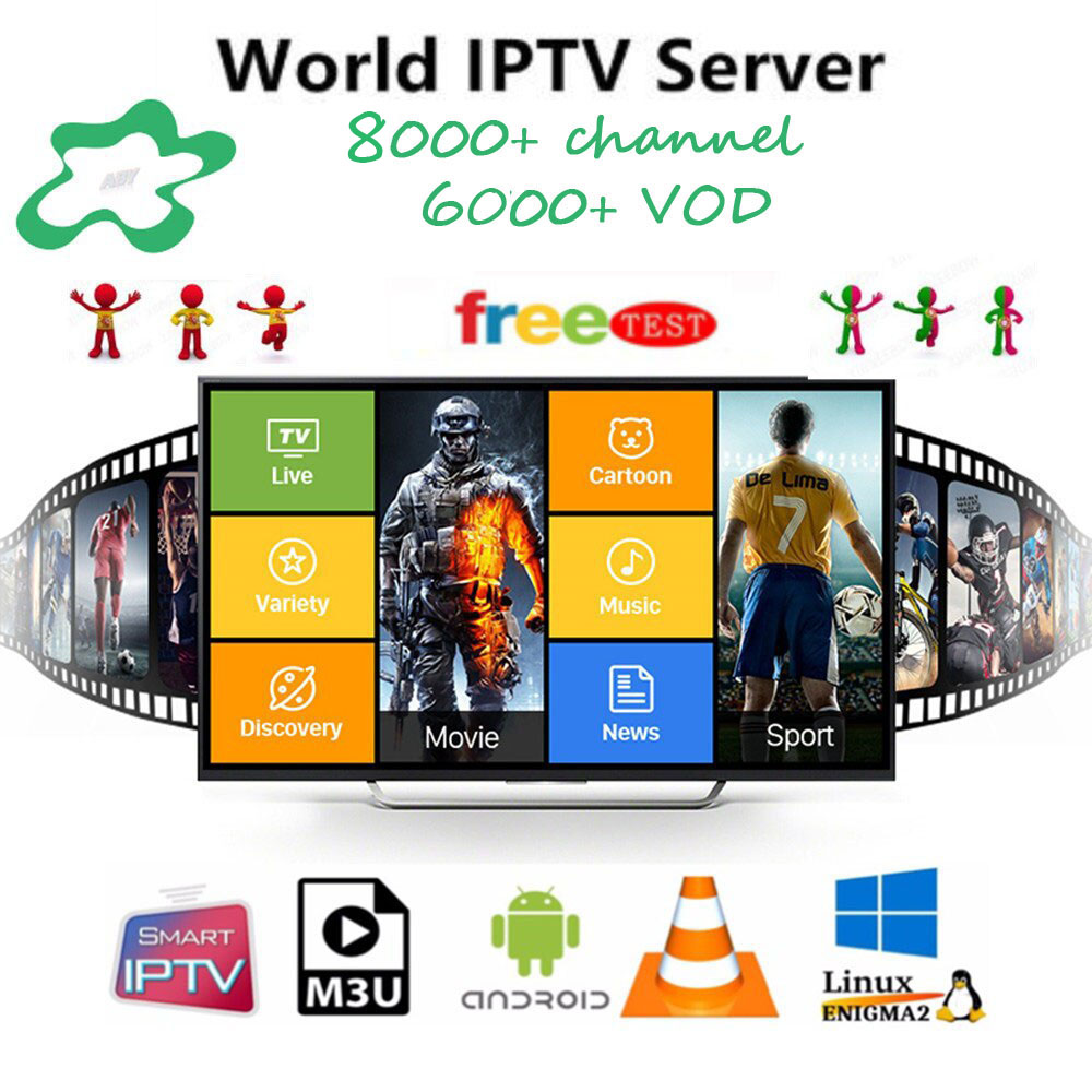 World IPTV Subscription France Netherlands Arabic Spain UK Poland Sweden Portugal Nordic Canada USA Android  M3U
