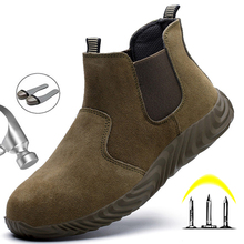 Winter Boots Men Safety Shoes Steel Toe Puncture-Proof Men's Boots Work Shoes Safety Boots Indestructible Shoes Ankle Boots Men