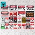 Предупредительный знак безопасности собаки, предупреждающий металлический знак, охранный знак собаки, Настенный декор, двор, знак, не трево...