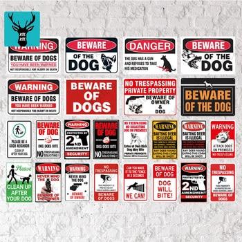 Community Sign Beware Of Dog Sign Warning Metal Sign Guard Dog Sign Wall Decor Yard Sign No Trespassing Metal Dog Signs [ kelly66 ] pet shop warning beware of dog no pooping allowed metal sign home decor bar wall art painting 20 30 cm size dg 4