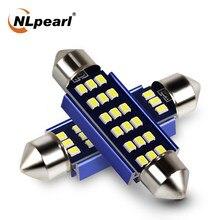 Nlpearl 2x c5w lâmpada de sinal led 2016smd branco c10w led 31mm 36mm 39mm 41mm festão luz interior do carro luz leitura cúpula 12v