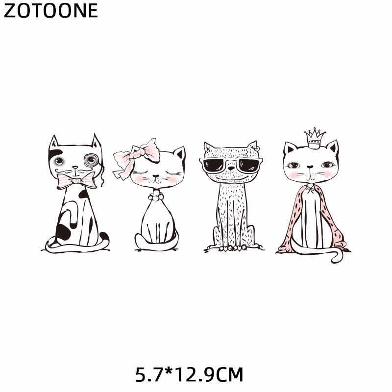 ZOTOONE חתול תיקון ילדה ילד מלאך קופידון מדבקות ברזל על העברות תיקונים עבור בגדי DIY חולצה חום העברות אפליקציות E