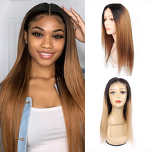 Kisshair 1B27 1B30 ombre color 4x4 lace closure wig straight
