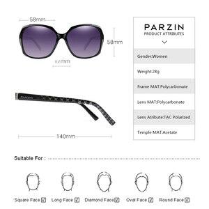 Image 3 - PARZIN lunettes de soleil polarisées pour femmes, grande monture stylée, monture ovale, mode, qualité réelle