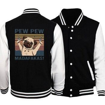 printio плакат a3 29 7x42 pew pew pew хан соло Pew Pew Madafakas Varsity Jacket for Men Women Jackets Tops Autumn Casual Sweatshirt Hoodie Coat Jacket Brand Baseball Jacket