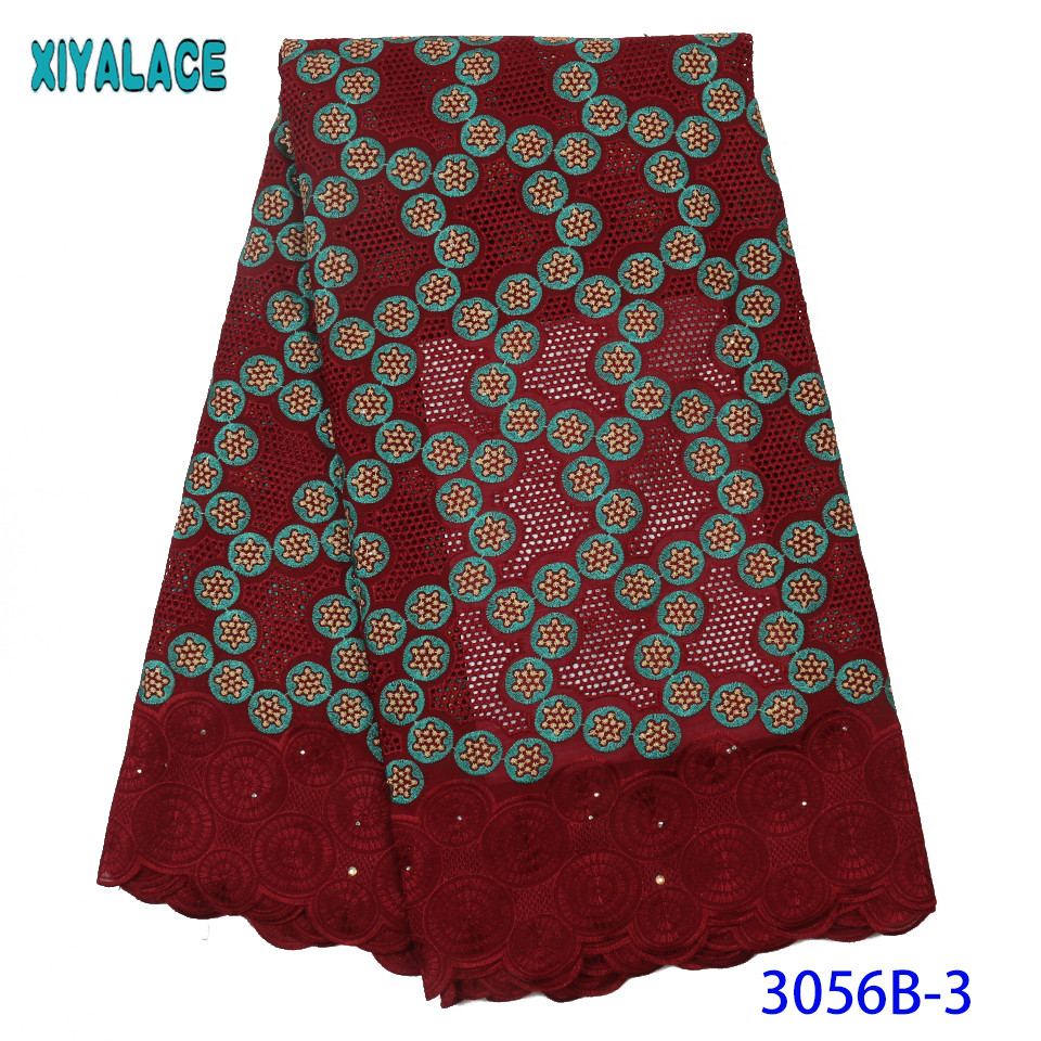 New Coming Swiss Voile Lace in Switzerland African Swiss Cotton Lace Fabrics Nigerian Lace Fabric for Women Dress KS3056B