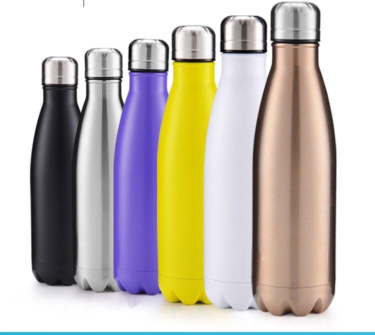 Activité promotion cadeaux 500ml bowling bouteille Sport bouteilles d'eau en plein air voyage isolation Thermos tasse peut personnaliser logo