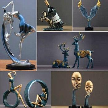 Новые Семейные фигурки, милые украшения для танцев, украшения для дома, креативные животные, изделия из смолы, украшение стола, свадебный по...