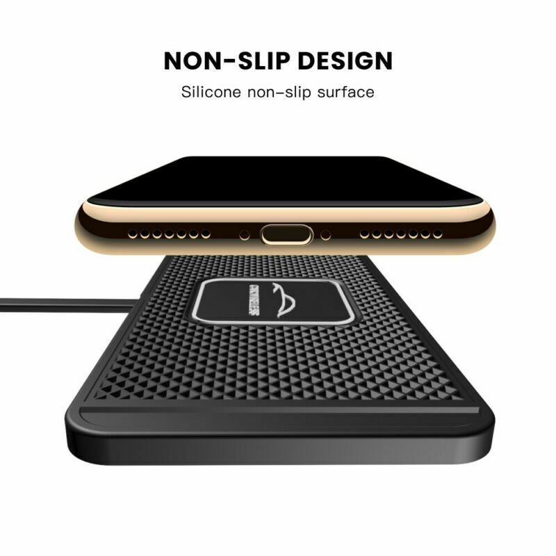 Universal QI Wireless Car Phone Charger Fast Charging Pad Mat For iPhone Samsung Huwei Xiaomi 10W Fast Chargers