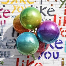 Hot selling hot 10 inch 22 32 4D aluminum film ball balloon colorful gradient color disco Disco fi