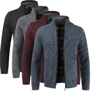 Fashion Men Autumn Sweater Coat Thick Casual Sweater Cardigan Men Brand Slim Fit Knitwear Outerwear Warm Winter Sweater Jumper(China)