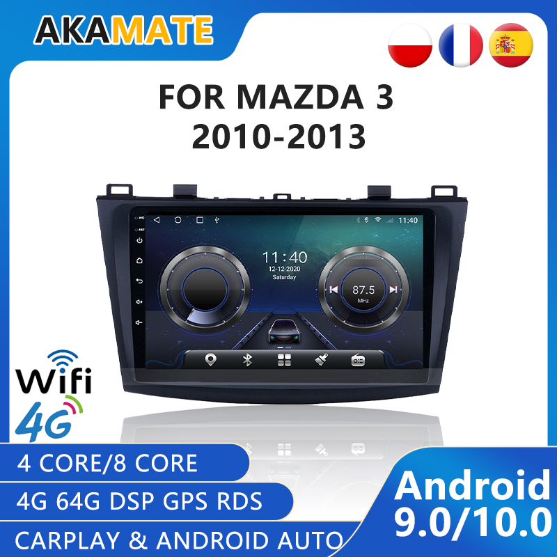 2 Din Android 10 Car Radio For Mazda 3 2010 - 2015 GPS Navigation Radio Car Multimedia Video Player Bluetooth FM Touch Screen