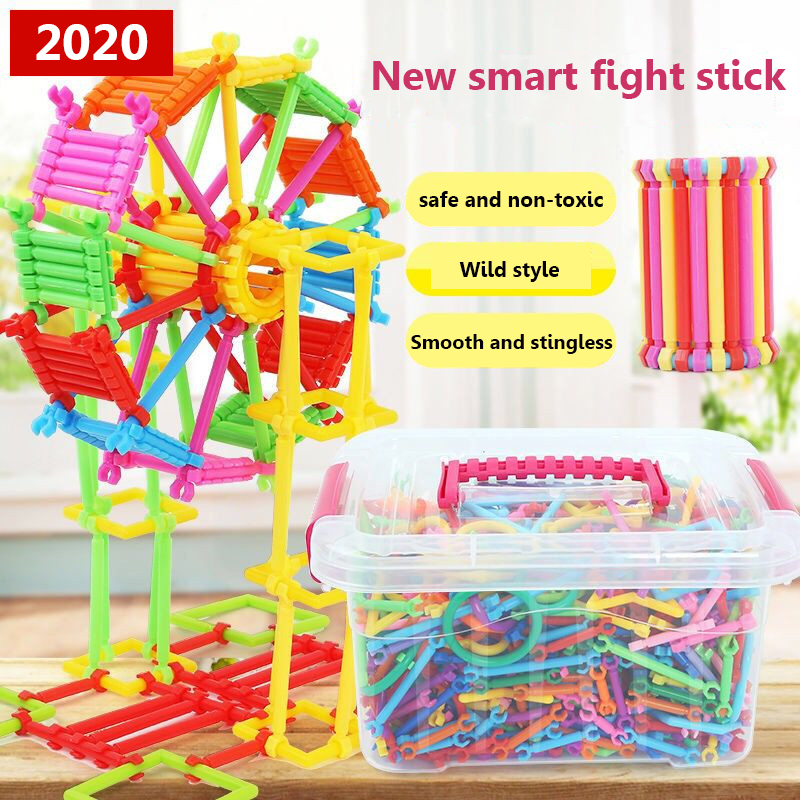 370-1680pcs Magnetic Designer Model & Building Toy  Blocks Educational Toys for ChildrenAssembling Blocks Magic Wand Smart Stick