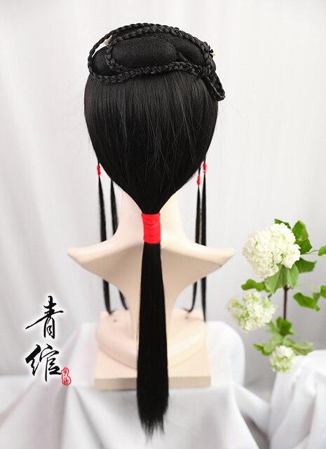 Xiaoxigu Hongloumeng Hanfu perruque couvre-chef peut être porté par les personnes de plus de 6 ans