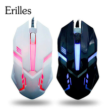Wired-Gaming-Mouse Laptop Usb-Gamer Mini Computer Desktop Cheap Led-Light Optical 4-Color