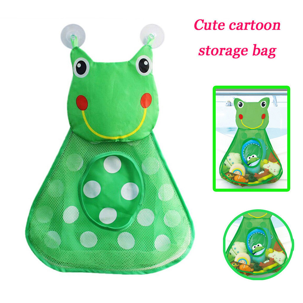 2Pcs Baby Bathtub Toy Mesh Duck Storage Bag Bath Toy Net Organizer Holder With Strong Suction Cups Bags #B