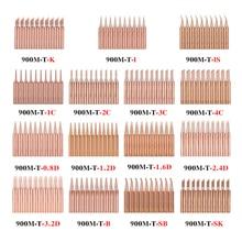 Soldering-Iron-Tip 852D Pure-Copper 936 900M-T 938 10pcs/Lot