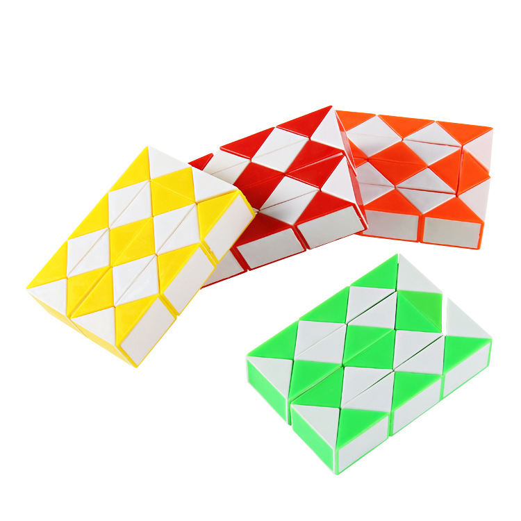 24 Paragraph Flexible Magic Feet Educational Decompression CHILDREN'S Toy Folding Magic Cube Transformation Snake Kindergarten G