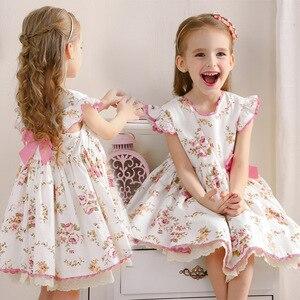 Новое поступление, летнее платье в стиле Лолиты для девочек, платье принцессы для маленьких девочек, испанское платье на день рождения, свад...