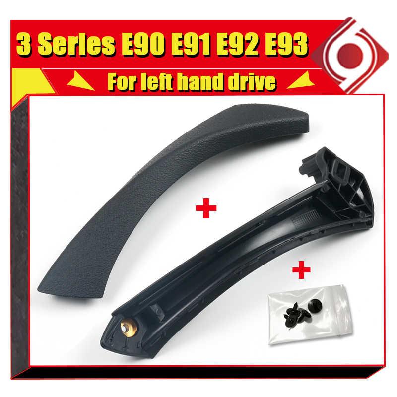 עבור BMW E90 E91 E92 E93 רכב פנים לקצץ פנים דלת ידיות משיכה פנל לקצץ כיסוי שחור 3 סדרת 320i 325 328 החלפה