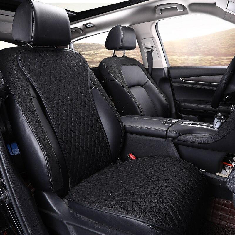 2020 Brand New Linen Car Seat Cover Flax Cushion Breathable Protector Non Slide Auto Accessories Universal Size E1 X36