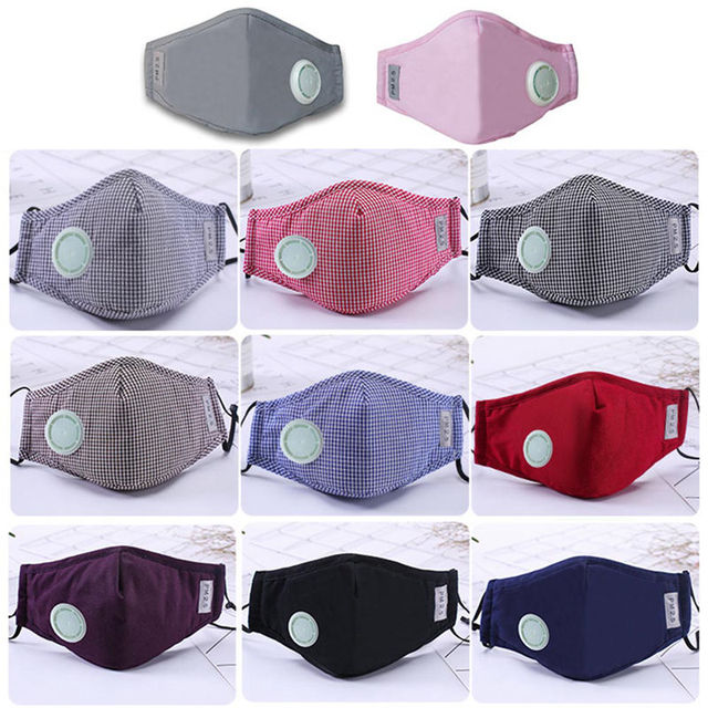 Anti Pollution Mask Dust Respirator Washable Reusable Masks Cotton Unisex Mouth Muffle For Allergy/Travel/ Cycling Flu Face Care