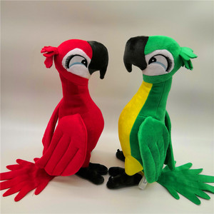 Image 2 - New Cute Rio Parrot Plush Toy  Stand up Parrot Doll Toy Stuffed Macaw Plush Bird Toys 4 Colors