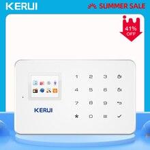 Беспроводная GSM сигнализация KERUI G18, домашняя охранная система с дистанционным управлением через приложение для IOS и Android, с поддержкой SMS звонков и Push уведомлений