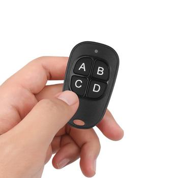 Mini brelok pilot 433Mhz powielacz ABCD 4 klucze bezprzewodowy garaż drzwi otwieracz bramy kod kopiuj klon dla domu samochodu tanie i dobre opinie kebidumei Keychain Car Remote Controller 433MHz Copy Remote control 0 02kg Black