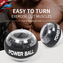 LED Wrist Ball Trainer Muscle Relax Gyroscope Spinning Power Arm Exerciser Strengthener Gyro Hand Grip Force Exercise