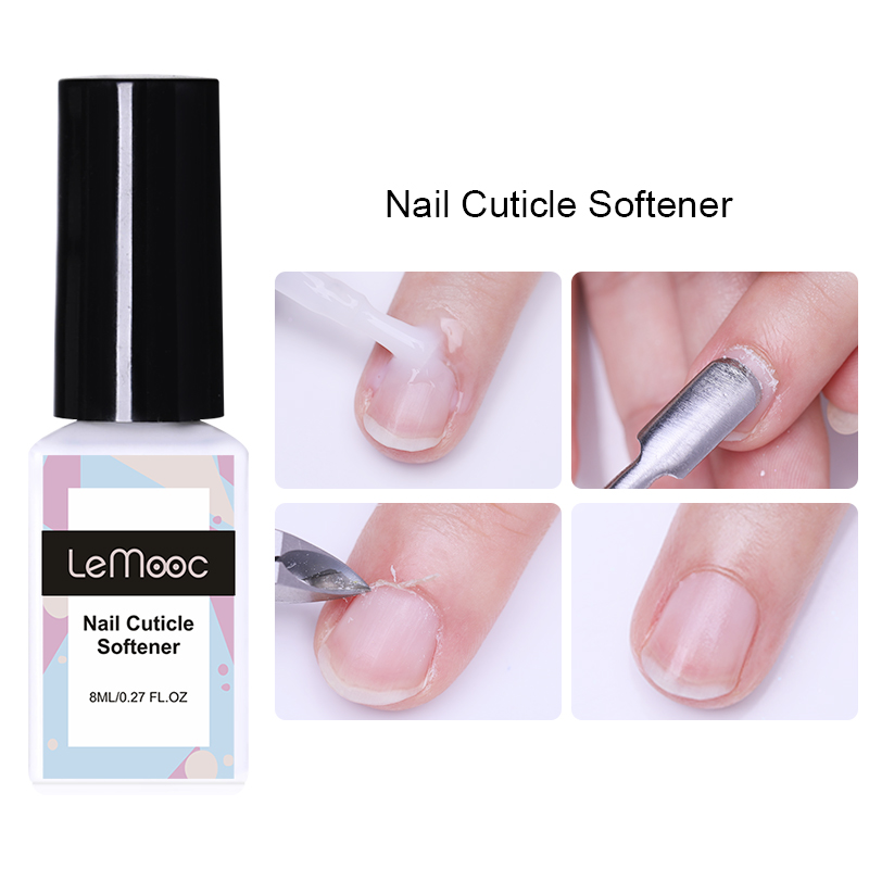 LEMOOC 8ml Nail Cuticle Softener Nail Polish Dead Skin Remover Nail Care Smoothing Barbed Nail Varnish Nail Art Tool Design