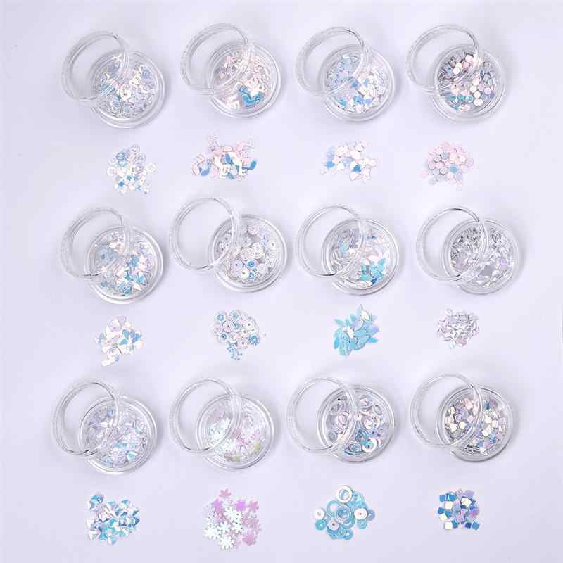 12 bottiglie Piatto Rotondo IN PVC Paillettes Sciolto per Artigianato Paillettes Cucito Decorazione Resina Epossidica di Gioielli In Resina di Otturazioni per Accessori FAI DA TE