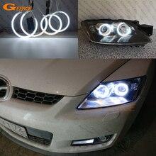 цена на Excellent CCFL Angel Eyes For Mazda CX-7 2006-2012 Ultrabright illumination Angel Eyes Halo Ring angel eyes kit