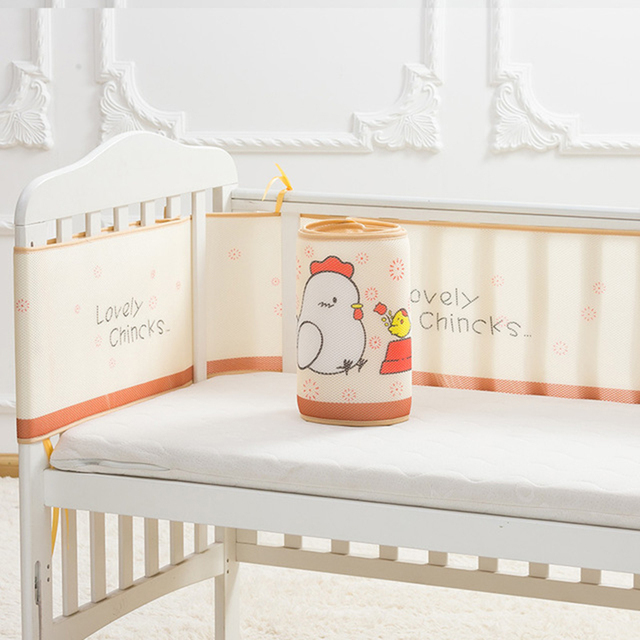300CM Cartoon Animated Crib Bed Bumper For Newborns Crib Around Cushion Cot Protector Children's Bed Protector Baby Bedding Set | Happy Baby Mama